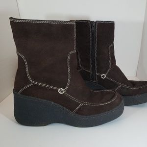 Bongo Platform Leather Comfort Booties 8